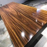 Factory Supply new design black walnut and white oak wood table