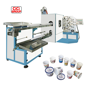 Plastic cup flex 4 color offset printing machine with factory price