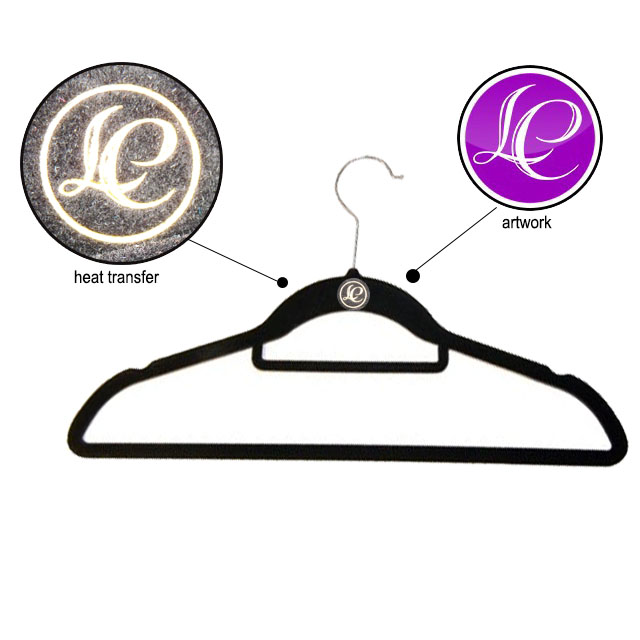 CR-IT784_velvet Professional fabric satin velvet silk clothes sponge hanger with CE certificate