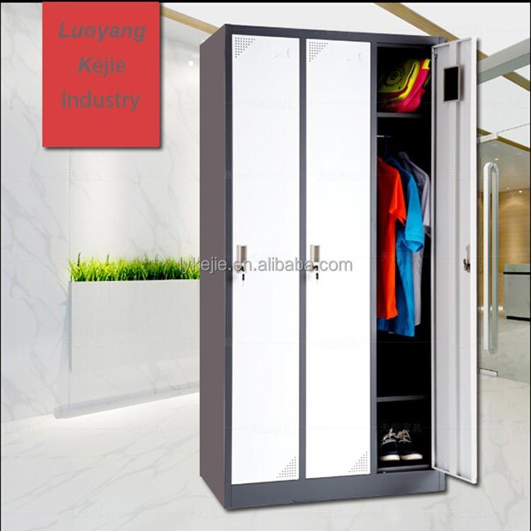 d20ed3c38 Mais recente design da porta guarda-roupa guarda-roupa do armário de aço 3