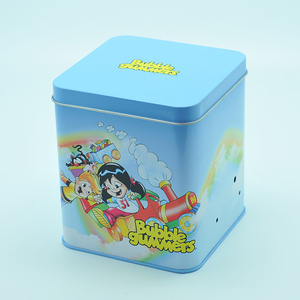 110 mm square tin can with flat lid for tea coffee packaging