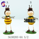 Standing bee metal iron insect garden decoration