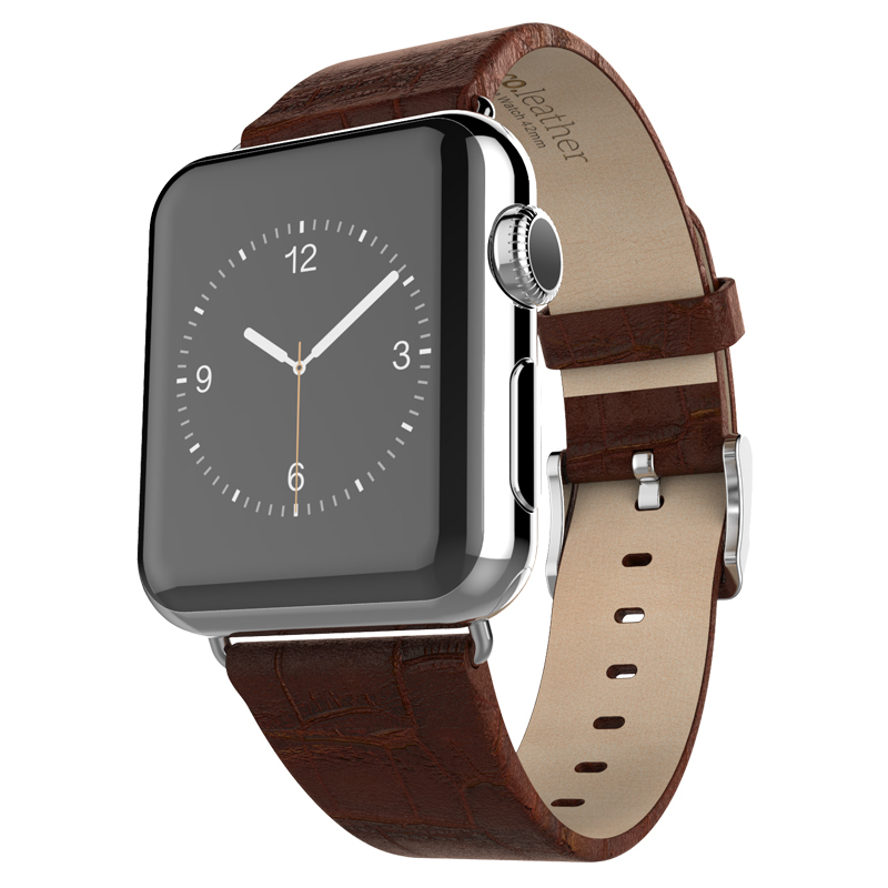 Premium 38MM Leather Watchband for Apple Watch Buckle Watch Band for Apple Watch Sport Wrist Strap Black Brown Red In Stock