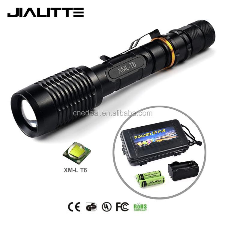 Jialitte F077 En Alliage D'aluminium Avec 18650 Batterie Et