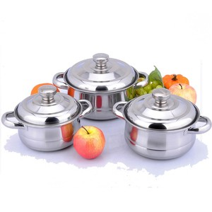 Stainless Steel Cooking sets 3pcs sauce pot kitchen utensils