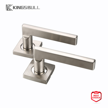 Inexpensive Nickel Indoor Door Levers Satin Chrome Handles