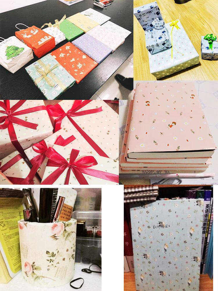 Custom Printed Gift Packaging Paper Double Sided Gift Wrapping Paper For Flowers