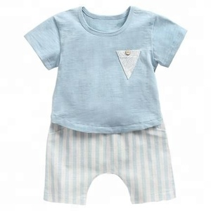 2pcs summer new fashion trend pretty bodysuit newborn baby children short sleeve shorts suit
