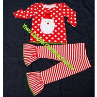 Wholesale Boutique Ruffled Set Cute Baby Christmas Dress Baby Infant Boutique Clothes