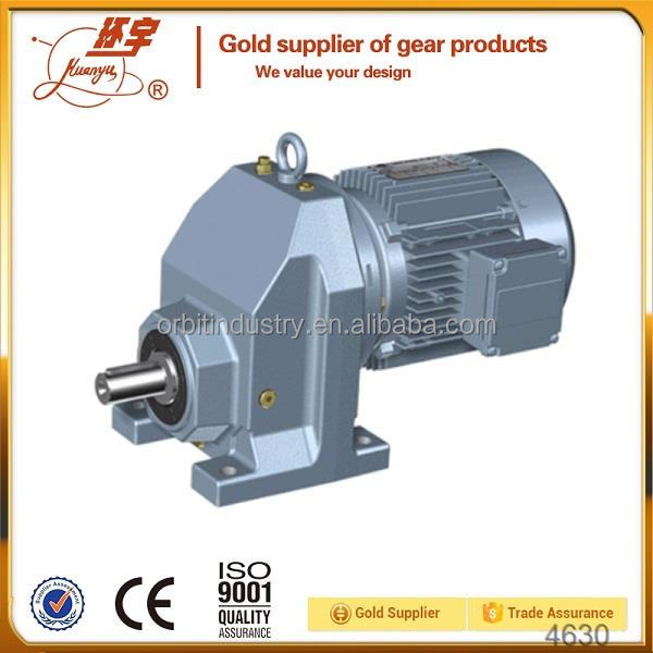 HUANYU R Series ac voltage geared motor with gear box R57 R67 R77 R87