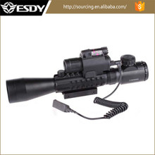 ESDY 3-9x40E Red Green Dot Sight With M6 Red Laser Sight LED Flashlight Airsoft Riflescope