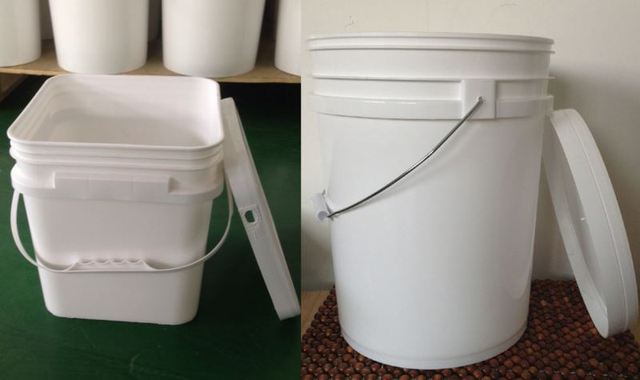 printed 1 gallon round metal paint canbucket with lid and handle