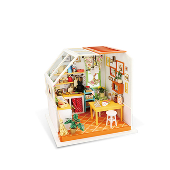 Robotime DIY Wooden House Miniature DIY Dollhouse DG105 Kitchen Diy Gift