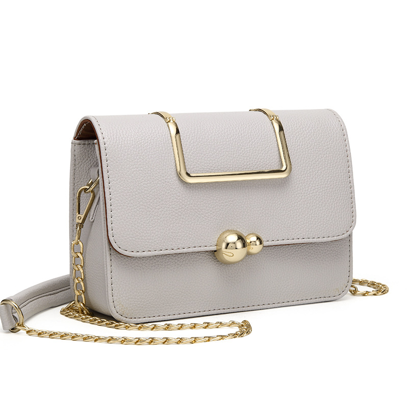 361c7728b886 Alibaba Express China New Goods Beautiful Metal Accessories And Long Chain  Designer Lady Small Leather Handbag