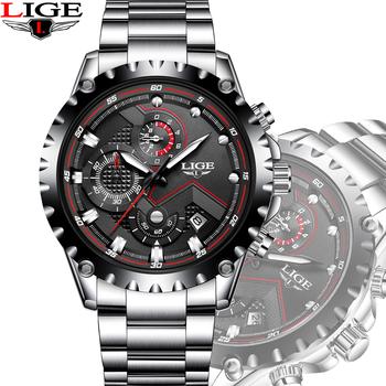 Reloj Lujo Militar Black Hombres La De Marca Relojes Los Cuarzo Lg9821a Moda Deporte Este Acero Momento En BWoeCxEQrd
