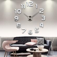 2016 top fashion new free shipping Modern font b clock b font watch Wall Stickers font