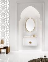 New Arrival Elegant Style Bathroom Mirror Vanity with Sink Base