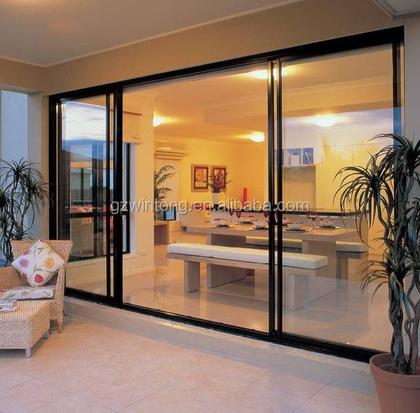 4 panel sliding door entrance french glass door