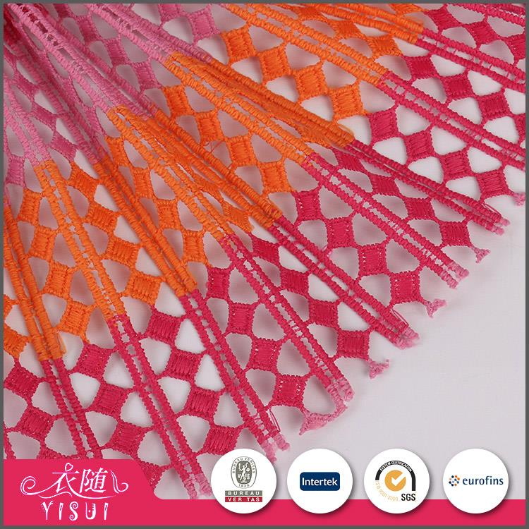 High quality custom made water soluble popular types of net fabric for decoration