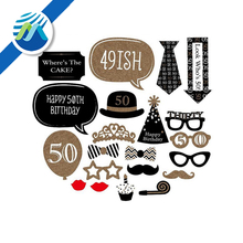 21 pcs 40 Year Old Photo Booth Props Kit Party Decoration for Birthday Party