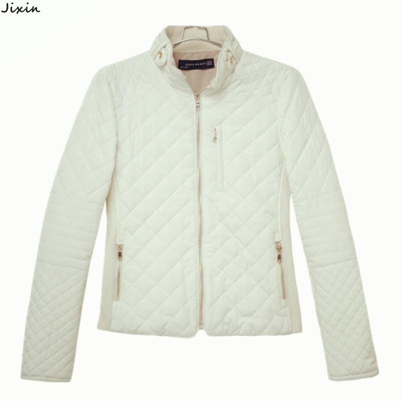 Womens Jackets And Coats Quilted Slim Shrug Cotton Outerwear Coats Long-Sleeve Bomber Jacket Autumn Winter Fashion