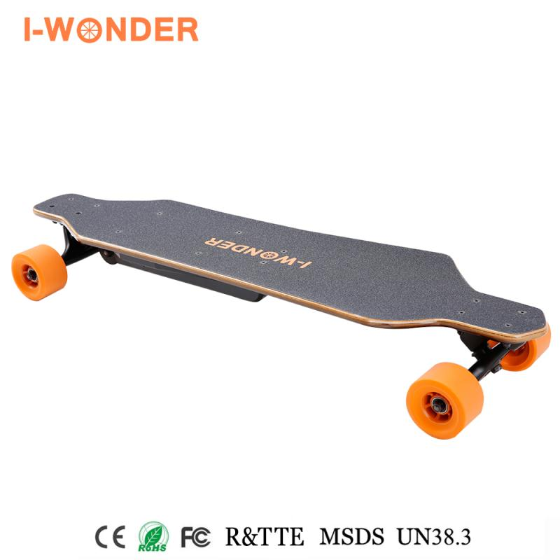 I-WONDER,Electric longboard 1200W 24V 8.8A ,Brushless with Hall sensor motor,remote control SK-B2,skateboard electric scooter