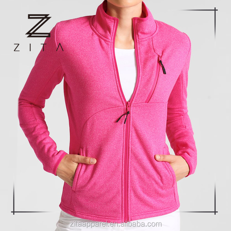 Polyester Spandex Womens Winter Activewear Fitness Outer Sports Running Jacket