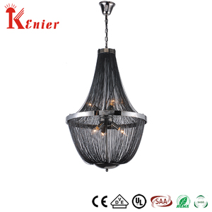 Hot Sale Factory Direct Price Modern Nickel Chain Modern Wood And Metal Orb Chandelier