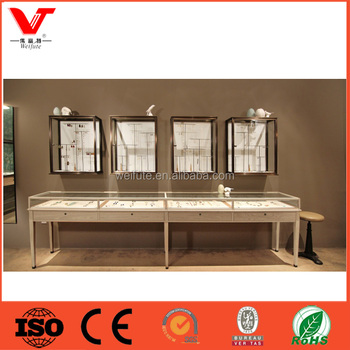 Boutique Glass Mirror Display Cabinet And Showcase For Jewelry Shop