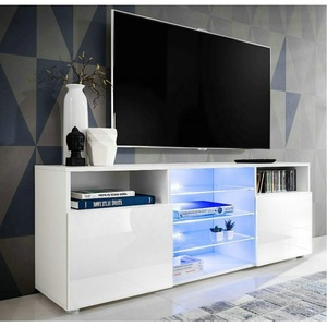 W-TV-1300 Wooden living room furniture Modern LED high glossy MDF TV cabinet design