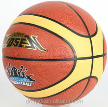 Xidsen,Qianxi PVC 12 pannels Basketball size 7,PVC/PU glue laminated training basketball