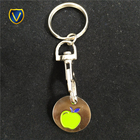 Custom shopping trolley coin keyring uk for campaign gifts