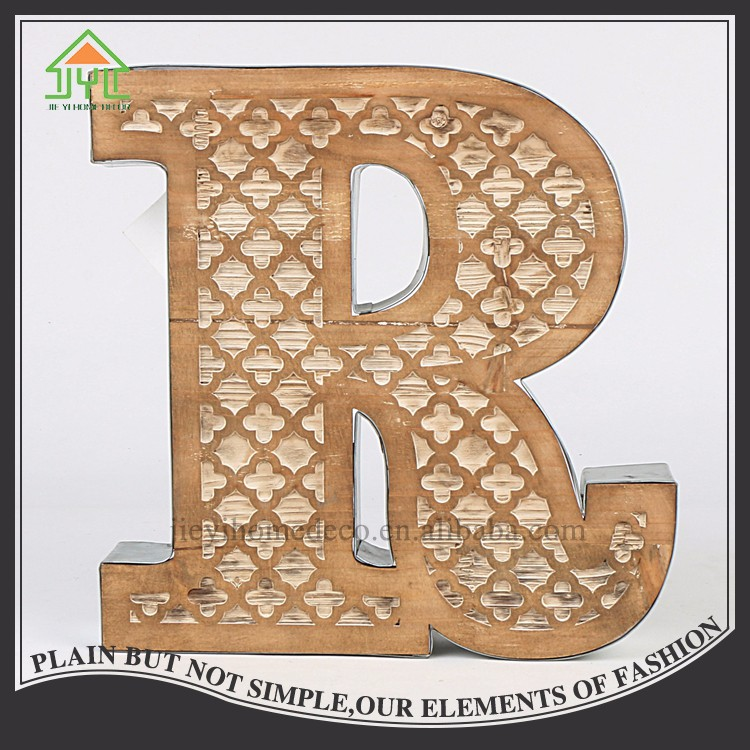Custom Iron Design Ornament Letter R For Decoration