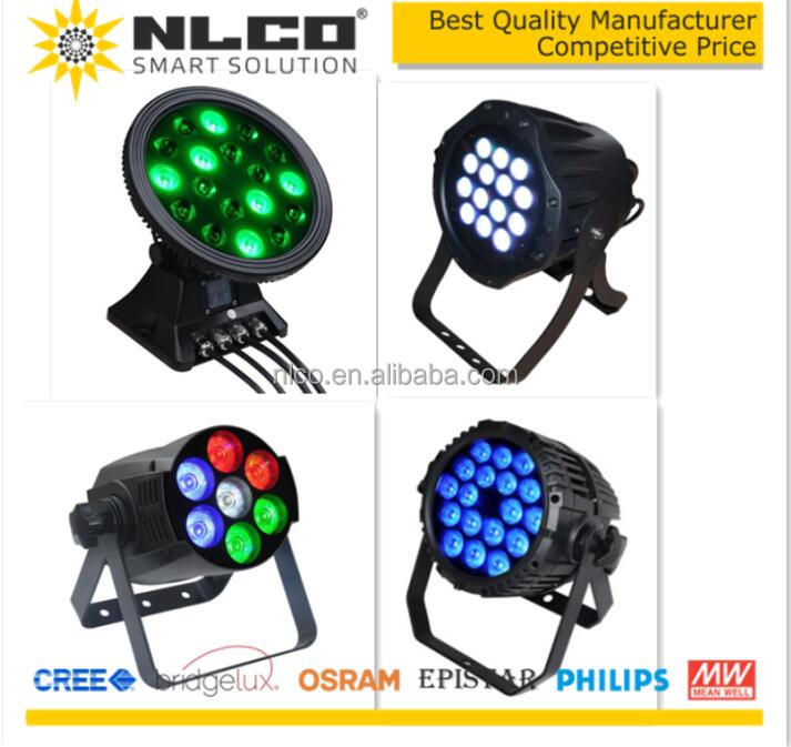 wireless DMX control 54W led stage lighting with channel 3CH, 6CH, 7CH, 8CH