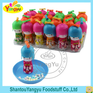 Colorful Press Candy In Japanese Dolls Bottle
