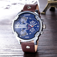 2019 Wholesales wrist man watch clock Genuine Leather OEM luxury bracelet watches men Factory price fashion watch
