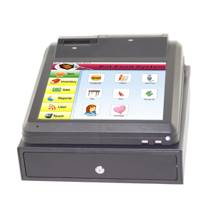 12 Inch Capacitive Touch Screen Pos All In One Windows With Cash Drawer For Restaurant