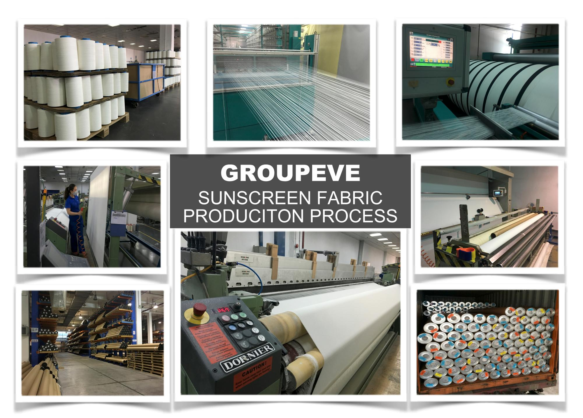 China Factory Wholesale 5% Openness Solar Shade Sunscreen Fabric