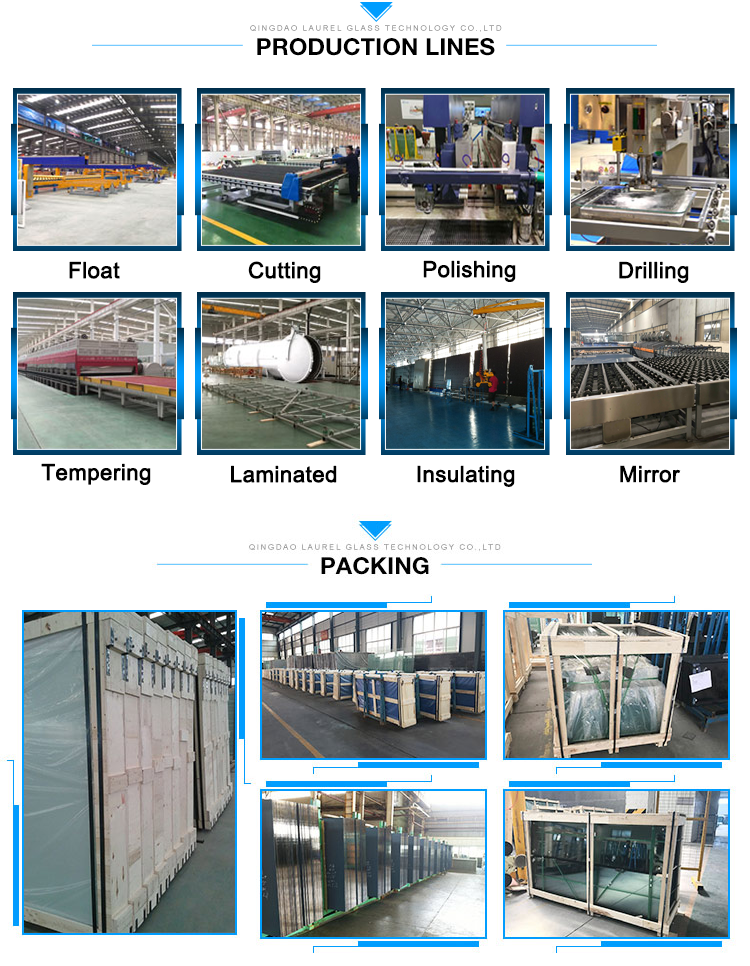 size of 55.2 clear laminated glass partition