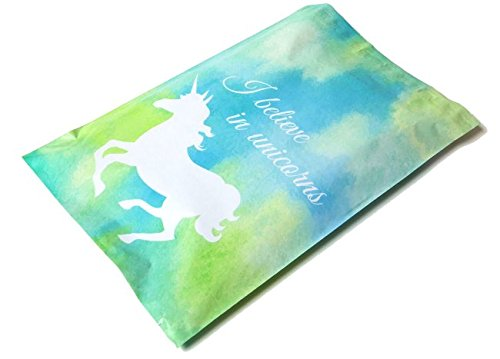 UPakNShip Pack of 25 – 10x13 Blue Unicorn Poly Mailers - Self Sealing, Lightweight, Tear Resistant Bags - Designer Shipping Envelopes