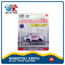 Small ambulance vehicles toys 1 87 scale diecast models for promotional