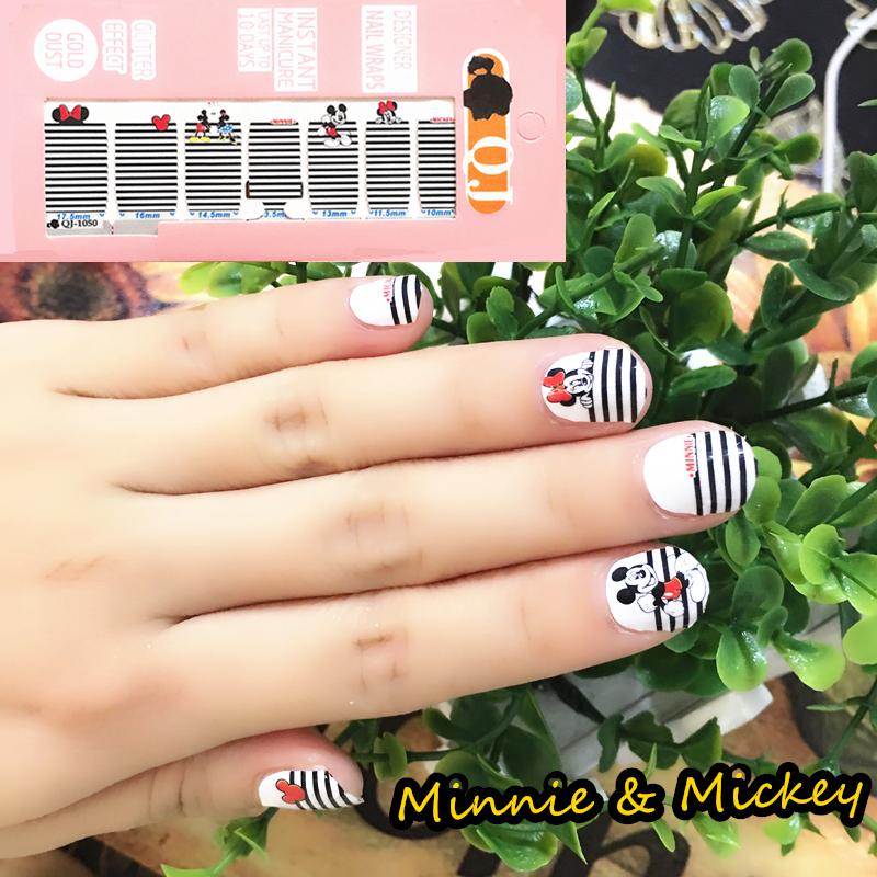 White Black small Mouse Nail Arts Nail Sticker Waterproof Nail Decal Sticker Gel Polish French Manicure
