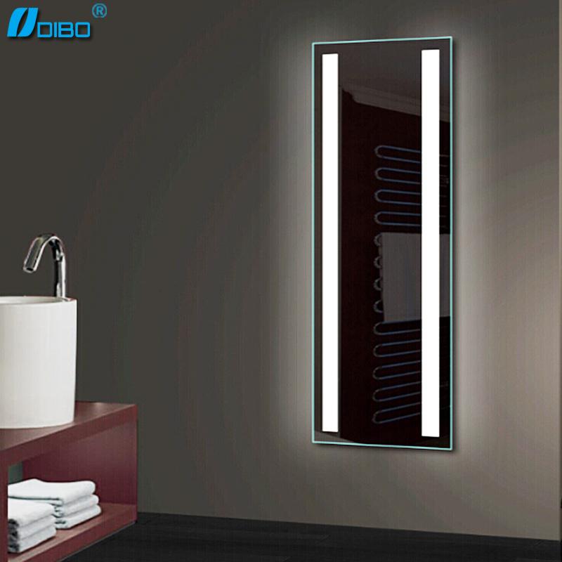 Moderna casa de banho de luz led espelho iluminado espelho do banheiro levou espelhos de for Lighted mirrors for bathrooms modern