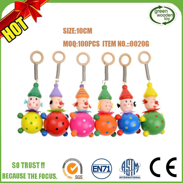 2017 Mini Wooden Toy Spring Head Dolls Set