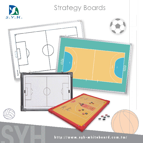 Black frame magnetic handball football basketball coach board/ training whiteboard
