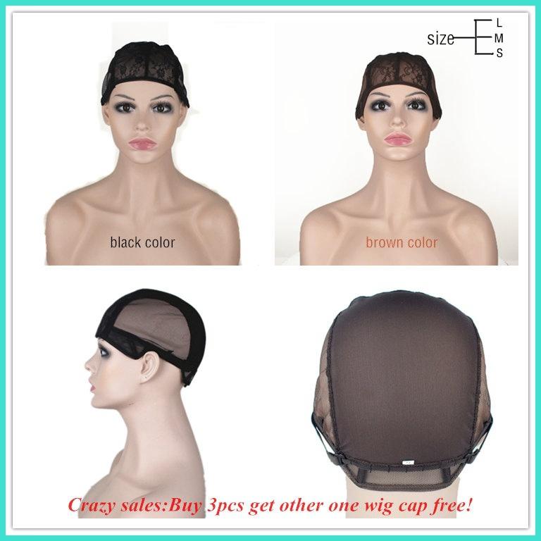 Парик кепка для производства париков с регулируемый ремень на задняя часть прошитый кепка размер S / M / L glueless парик шапки