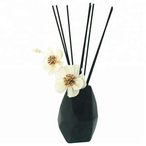 Home Fragrance Ceramic vase Natural Aroma Scented Essential Oil with Cotton Stick and Solar Flower Reed Diffuser