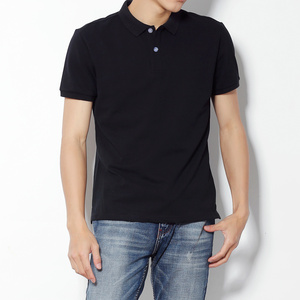 black polo shirt mens plain cotton polyester polo shirts for men
