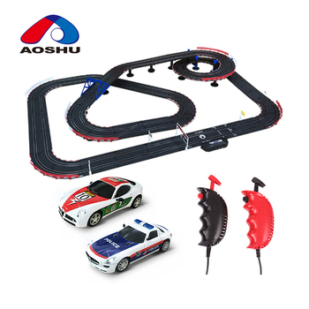 High quality diy race track electric 1:43 scale slot car racing sets with remote control
