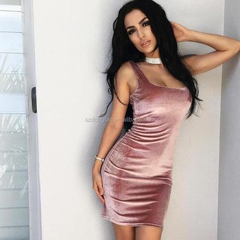 d591bad88 2017 ropa mujer rosa terciopelo partido mini vestido señora del diseño